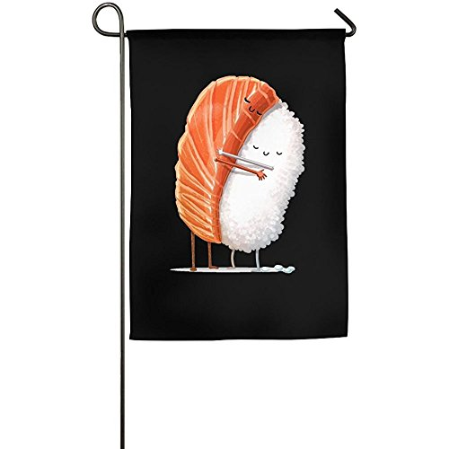 Banner Raglan (Starmilwke Womenâ€s A Intimate Hug Between Sushi Funny Toddler Raglan Shirts Fashion Garden Flag Indoor & Outdoor Decorative Flags For Parade Sports Game Family Party Wall Banner)