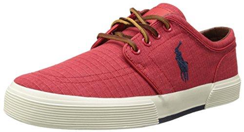 Polo Ralph Lauren Mens Faxon Bassa Moda Ripstop Sneaker Rosso