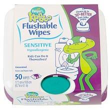 Kandoo Flushable Sensitive Toddler Wipes Tub 50ct., Health Care Stuffs