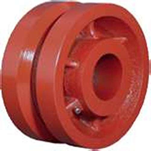 8'' x 2.5'' Ductile Iron V-Groove Wheel, 3500 lb Capacity, Roller Bearing