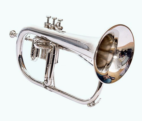 Global Art World Stylish And Beautiful Flugel Horn With 3 Valve Bb Pitch Made Of Brass Musical Item MI 048 by Global Art World