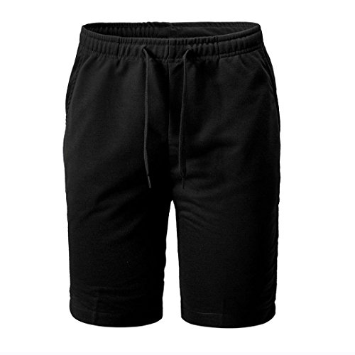 PASATO New!Summer Men's Shorts Sports Work Casual Classic Fit Short Pants (Black, XXL) ()