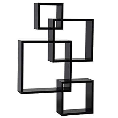 Floating Shelf Wall Mounted Home Decor Furniture Intersecting Squares