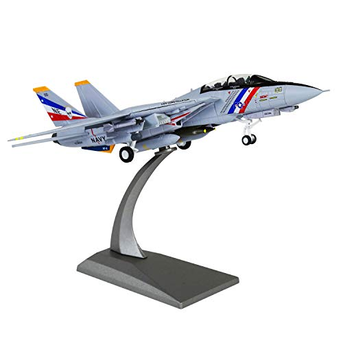 HANGHANG 1/100 Scale US Navy Bounty Hunter Squadron F-14D Tomcat Fighter Attack Plane Metal Fighter Military Model Diecast Plane Model for Collection or Gift