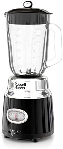 Remington Russell Hobbs BL3100BKR Retro Style 6-Cup Blender, Glass Jar, Black