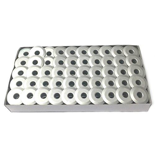 Cutex Brand 100 Aluminum M Size Bobbins for TIN Lizzie 18 Quilting Machines