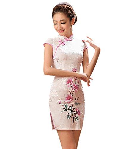 YueLian Damen Frauen Sommerkleider Retro QiPao Kleider Cheongsam ...