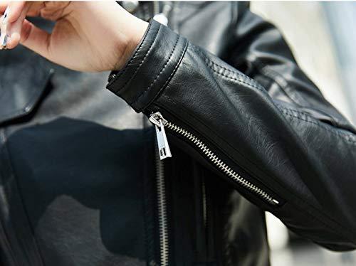 la Moda XL SED Cuerpo Negro la Corta Delgado de de la de Manera Femenina Larga de Solapa la Chaqueta de Primavera Abrigo decoración Manga ggYZqw