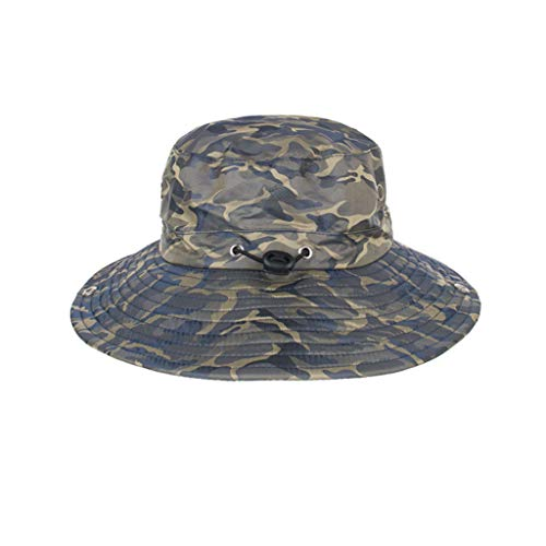 Jianekolaa Outdoor Sun Hat for Fishing Summer UPF 50+ Boonie Cap Drying Cap Khaki