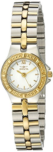 "Invicta Women's 0136 ""Wildflower Collection"" 18k Gold-Plated Stainless Steel Watch"