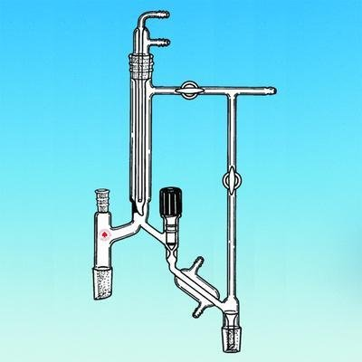 ACE Glass 6613-12 Vacuum Type Distillation Head 24//40 Column Joint and Receiver Joint