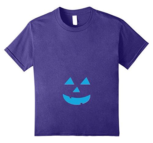 Pregnancy Themed Halloween Costumes (Kids Baby Boy Maternity Pregnancy Pumpkin belly Halloween Shirt 12 Purple)
