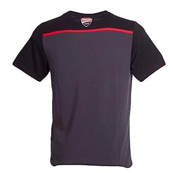 Ducati 2018 Corse Team MotoGP Mens Yoke T-Shirt Tee Black//Grey with 3D Logo