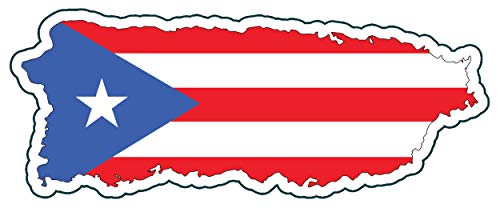 (WickedGoodz Puerto Rico Vinyl Decal - Distressed Flag Bumper Sticker - Perfect Puerto Rican Gift)