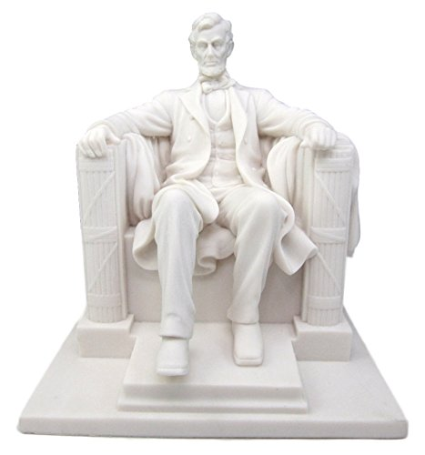 "Ebros Seated Abraham Lincoln Figurine 8"" H Lincoln Memorial Colossal Sculpture 16th President of United States of America Historical Decor Civil War Transformational Leader"
