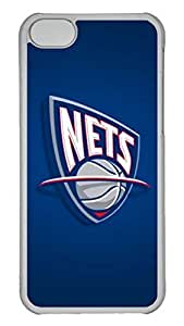 Creative GOOD 5C Case, iPhone 5C Case, Personalized Hard PC Clear Shoockproof Protective Case Cover for New Apple iPhone 5C - New Jersey Nets
