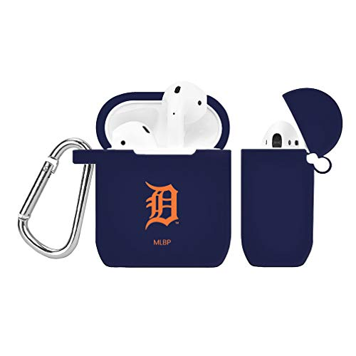 GAME TIME Detroit Tigers Silicone Case Cover for Apple AirPods Battery Case Navy Blue