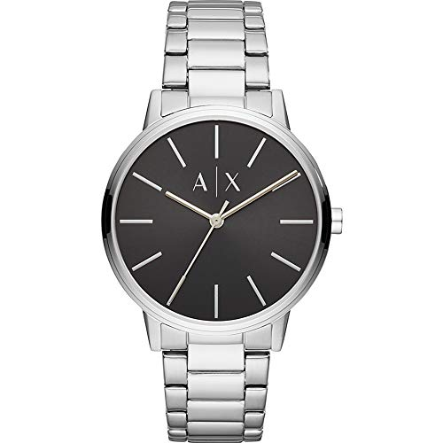 Armani Exchange Men's 'Cayde' Quartz Stainless Steel Watch, Color:Silver-Toned (Model: AX2700) -