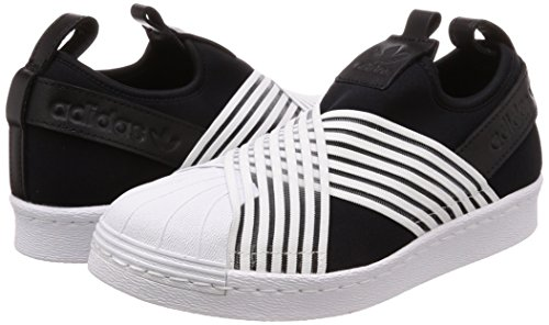 Superstar Core ftwr White Black Femme White Slip core Adidas ftwr Noir W Chaussures De Gymnastique On White 1xTxSZwdq