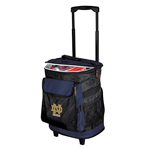 NCAA Notre Dame  - Rolling Cooler by Logo Brands (University Logo Polyester)