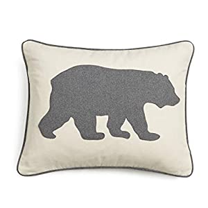 Eddie Bauer Gray Bear Twill Decorative Pillow