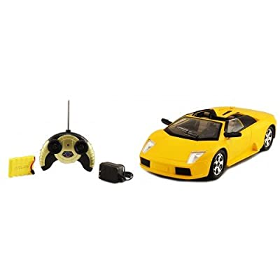 Electric 1:14 Lamborghini Murcielago Roadster Super Sport Full Function RTR RC Car (Yellow) Remote Control: Toys & Games