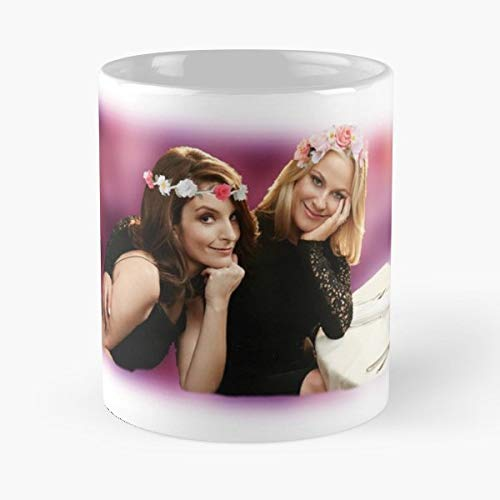 Amy Poehler Tina Fey Best Friends Flower Crowns - Coffee Mug Tea Cup Gift 11oz Mugs The Gift Holidays.
