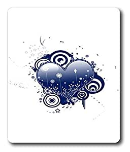 best mouse pads Abstract Blue Heart Vector PC Custom Mouse Pads / Mouse Mats Case Cover