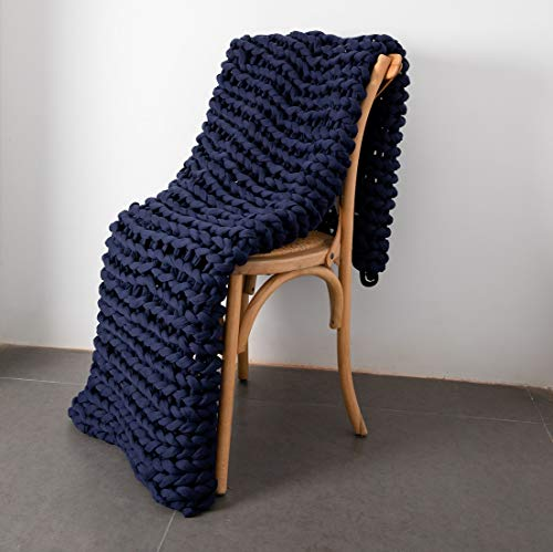DIRUNEN-Weighted-Chunky-Knit-Blanket-275-lbs-Premium-Heavy-Blanket-Internal-Padding-Cloth-Hand-Knitted-Throw-Navy-Blue-59-79
