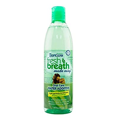 Tropiclean Fresh Breath Plaque Remover Pet Water Additive 33.8oz by TropiClean