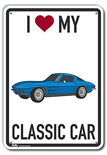 0.04 Width 10 x 14 PetKa Signs and Graphics PKAS-0528-NA/_10x14I Love My Stingray Blue Aluminum Sign
