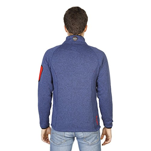Geographical Norway Herren warme Sweatshirt-Jacke TRIANGLE blau TURBO DRY