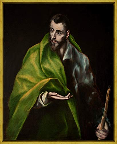 Berkin Arts Framed El Greco Giclee Canvas Print Paintings Poster Reproduction(St James The Greater) #XLK