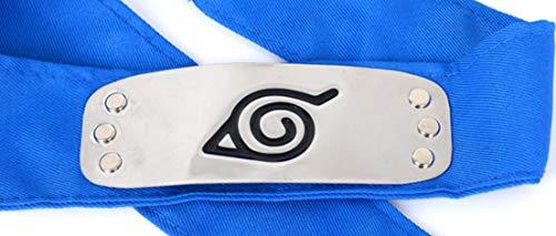 Ys&Ts Naruto Konoha Village Ninja Shinobi Cosplay Headband (Konoha, Blue) (Naruto Rise Of A Ninja Part 2)