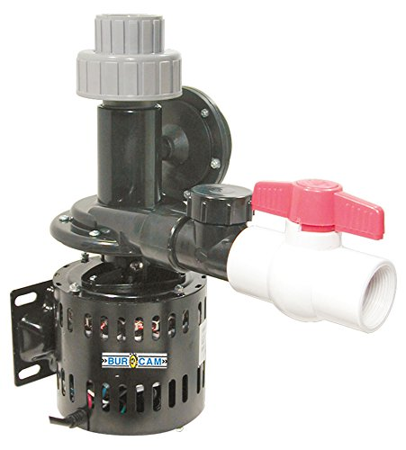 BurCam 300514W  Laundry Tub Pump, Automatic Switch, 1/3 hp, 115V