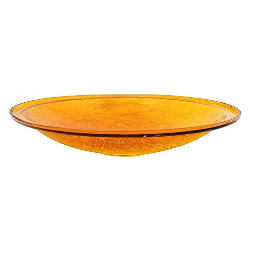 Achla Crackle Glass - Achla Designs Crackle Glass Bowl, 14-in, Mandarin