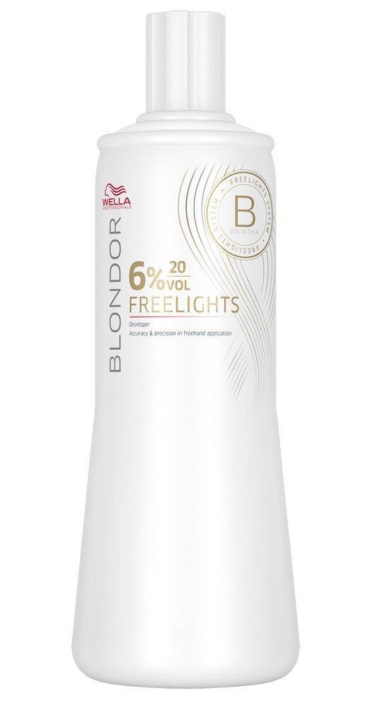 Wella Blondor Freelights 6% 1 x 1000 ml H2O2 Peroxid 20 Vol. für sanfte Aufhellung
