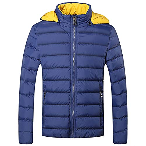 Soft Coat Light Men's Youth Cotton Man Windproof MU Jacket Cotton Outwear Teenager Thickening Warm CHAO Ultra Blue Clothing Outdoor Winter pOYpIqx