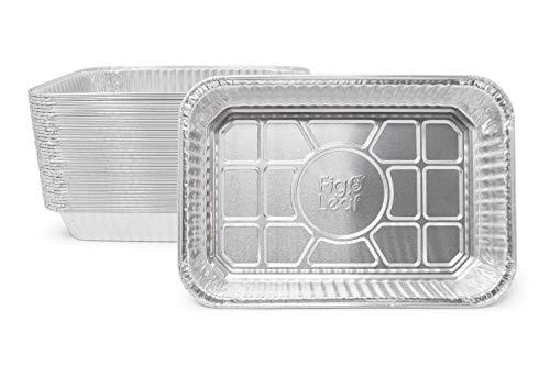 (Fig & Leaf (35 Pack) Weber Grills Compatible 6415 Drip Pans l Size 7.5