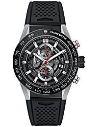 Carrera Skeleton Dial Automatic Mens Chronograph Rubber Watch CAR201V.FT6046