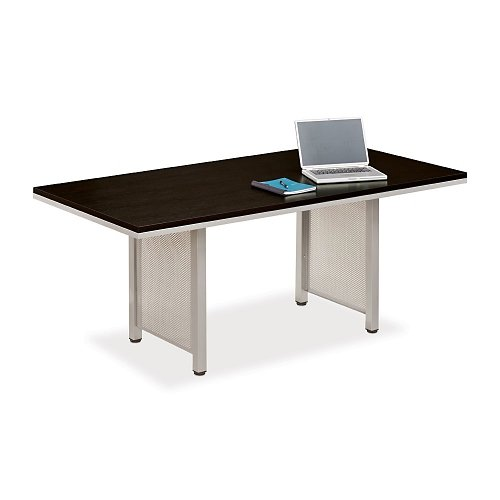 6' Laminate (6' x 3' Conference Table with Espresso Wenge Laminate Top and Brushed Nickel Base, NBF Signature Series)