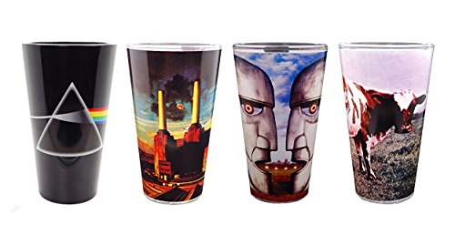 JUST FUNKY PF-GS4-1860-JFC-01 Pink Floyd Art Set of 4 pint with Assets