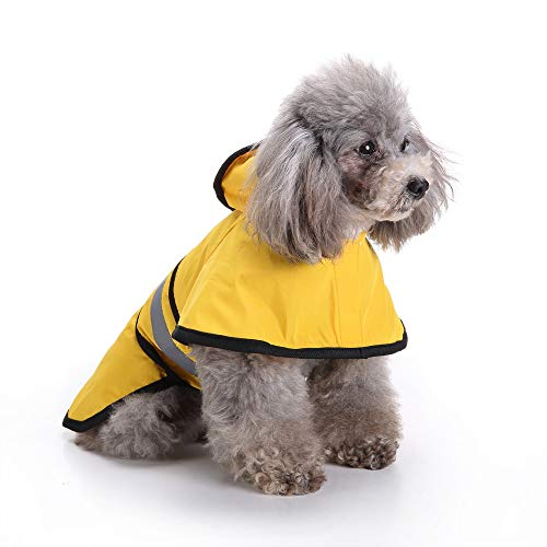 Fitfulvan Clearance! Pet Dog Hooded Raincoat Pet Puppy Jacket Outdoor Coat(Yellow,S) by Fitfulvan Pets (Image #2)