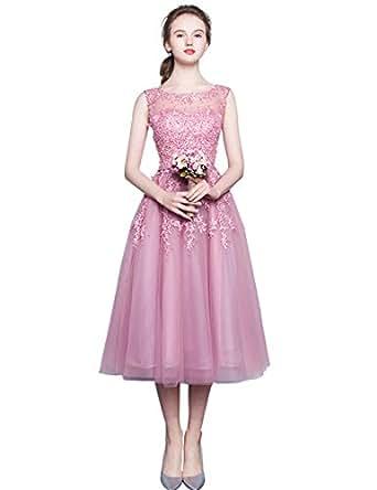 Amazon.com: EnjoyBridal Tulle Lace Pearls Pink Wedding