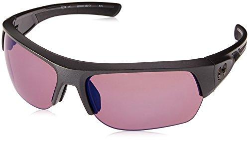 Under Armour Wrap Sunglasses, UA BIG SHOT SATIN CARBON/BLACK/GOLF, XL - Under Armour Game Day Green