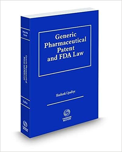 Amazon com: Generic Pharmaceutical Patent and FDA Law, 2018