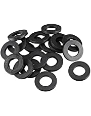 uxcell Rubber Round Flat Washer Assortment Size Flat Washers, Black Pack of 20