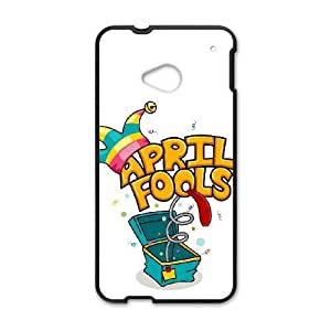 HTC One M7 Black phone case Happy April Fools Day OLP4833416