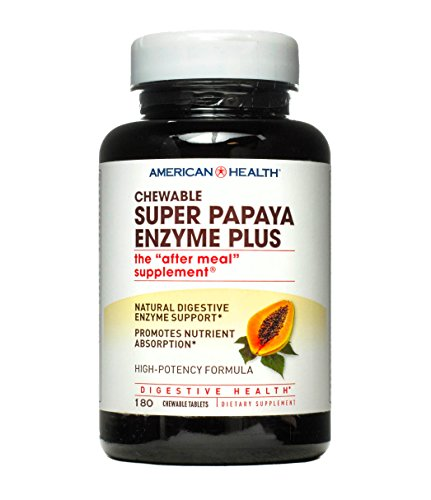 - Super Papaya Enzyme Plus American Health Products 180 Chewable