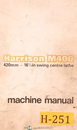 harrison m400 420mm centre lathe operations parts electrical rh amazon com Simple Wiring Diagrams motec m400 wiring diagram
